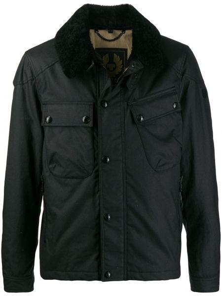 Długa kurtka czarna prosto Belstaff