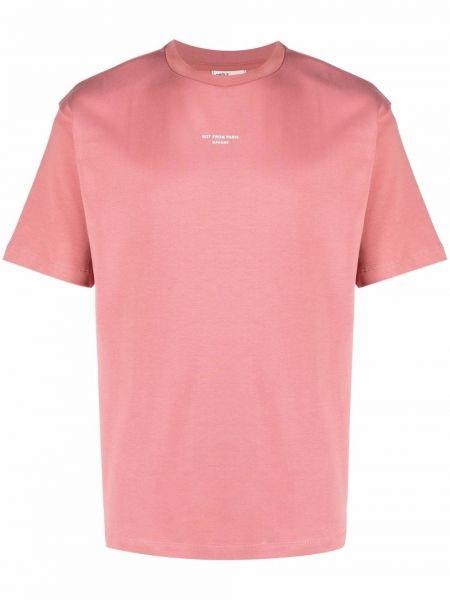 Różowa koszulka krótki rękaw Drole De Monsieur