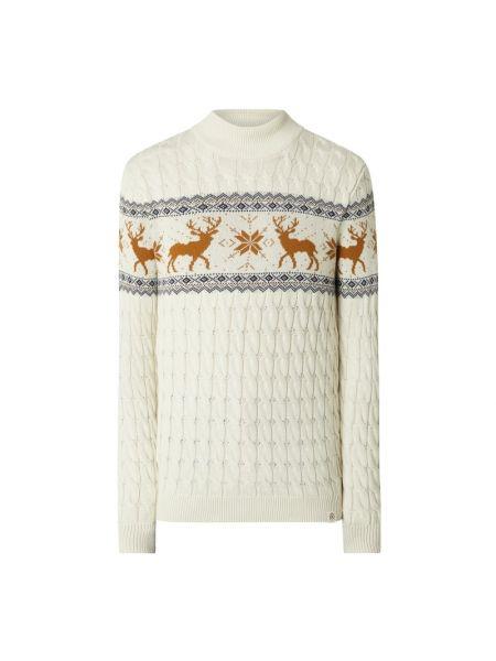 Prążkowany beżowy sweter bawełniany Mcneal