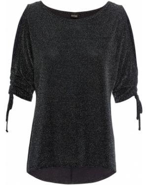 Свободная серебряная блузка с люрексом Bonprix