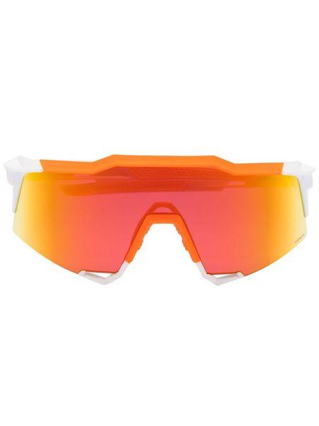 Прямые белые солнцезащитные очки 100% Eyewear