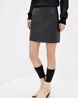Кожаная юбка черная турецкий Koton