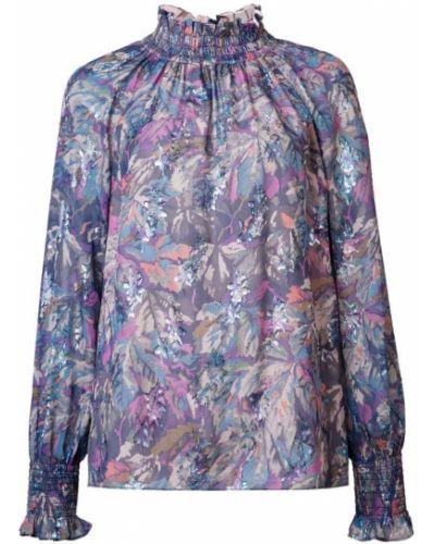 Блузка с длинным рукавом свободного кроя с принтом Rebecca Taylor