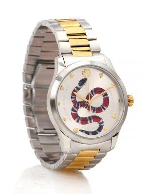 Srebro zegarek metal Gucci
