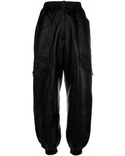 Черные брюки с завязками с поясом с высокой посадкой Matériel