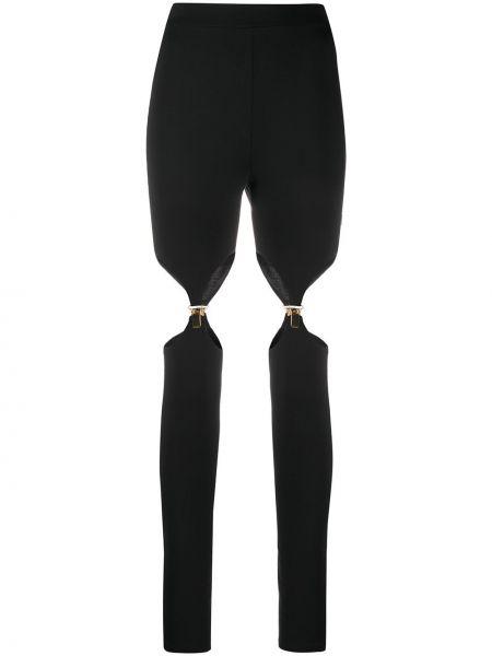 Czarne legginsy z wysokim stanem Murmur