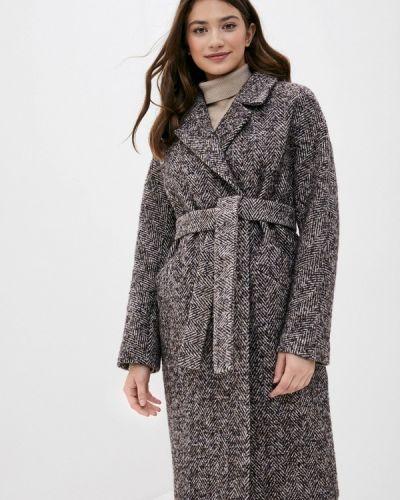 Коричневое пальто двубортное Paradox