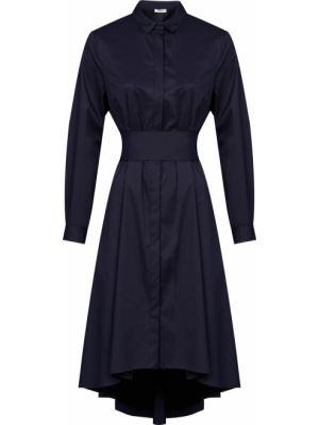 Хлопковое платье - синее Peserico