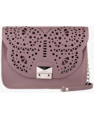 Кожаная сумка через плечо фиолетовый Vintage