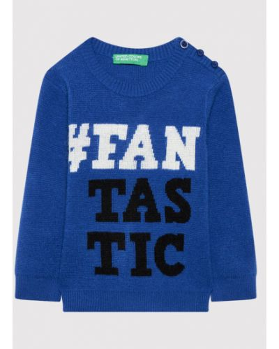 Sweter - niebieski United Colors Of Benetton