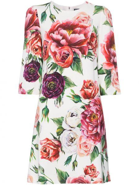 Платье с цветочным принтом с принтом Dolce & Gabbana