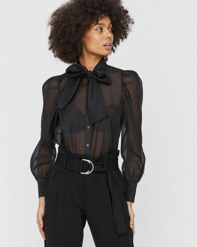Черная блузка с бантом Vero Moda