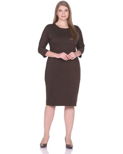 Тонкое с рукавами трикотажное платье макси Rosa Blanco