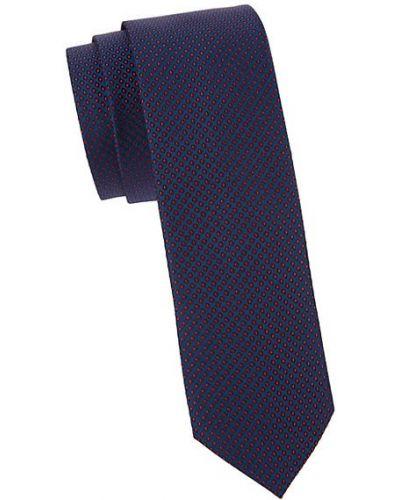Różowy krawat z jedwabiu z haftem Hugo Hugo Boss