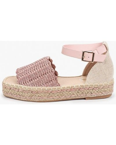 Текстильные розовые сандалии Vera Blum
