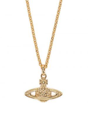 Золотистая подвеска золотая Vivienne Westwood