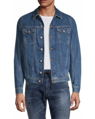 Хлопковая джинсовая куртка с длинными рукавами с воротником Diesel