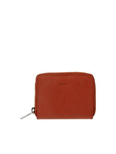 Pomarańczowy portfel skórzany Treats