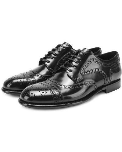 Кожаные туфли с узором Dolce & Gabbana