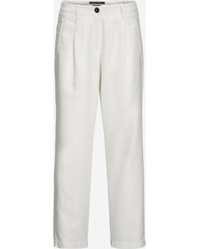 Белые свободные брюки с карманами свободного кроя с высокой посадкой Marc O' Polo