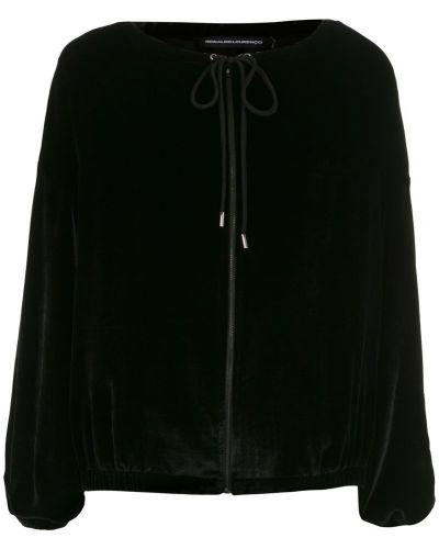 Длинная куртка черная бархатная Reinaldo Lourenço