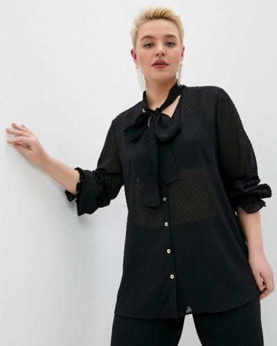 Черная блузка с длинными рукавами Persona By Marina Rinaldi