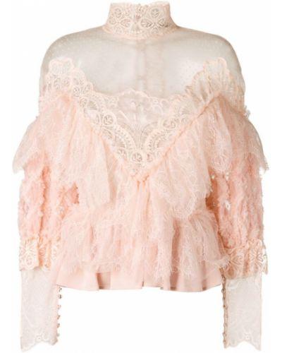 Блузка кружевная розовая Amen.