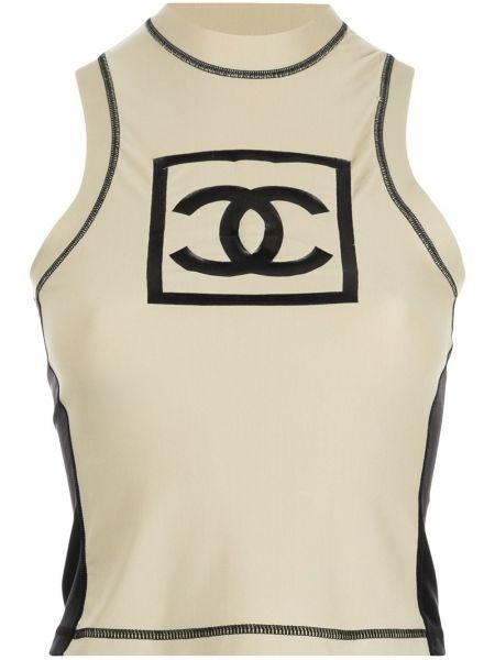 Kamizelka sportowa - brązowa Chanel Pre-owned