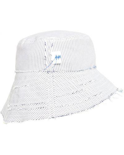 Biała czapka bawełniana w paski Ader Error