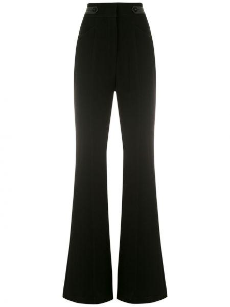 Черные расклешенные брюки с карманами с высокой посадкой Reinaldo Lourenço