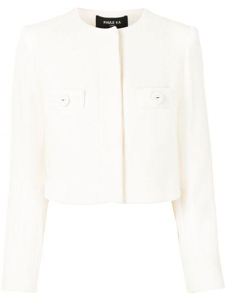 Шерстяной пиджак - белый Paule Ka