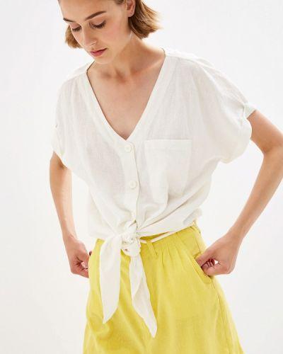 Блузка с коротким рукавом белая осенняя Q/s Designed By