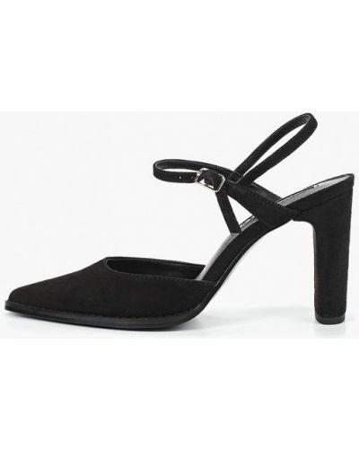 Замшевые туфли на каблуке с открытой пяткой Mango