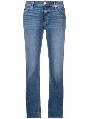 Хлопковые синие джинсы на молнии Paige