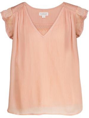 Bluzka koronkowa - różowa Velvet