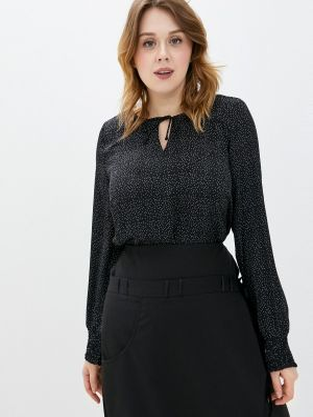 Блузка с длинным рукавом черная весенний Studio Untold