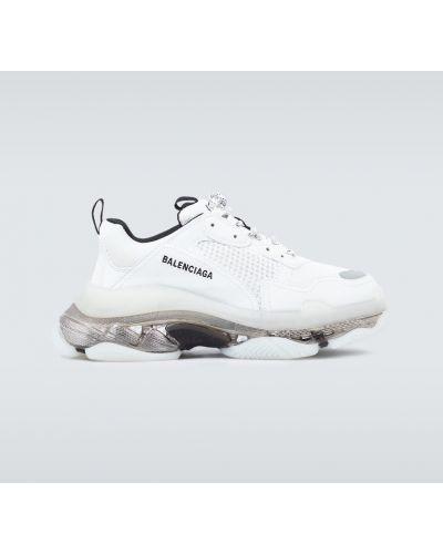 Czarne sneakersy skorzane z haftem Balenciaga