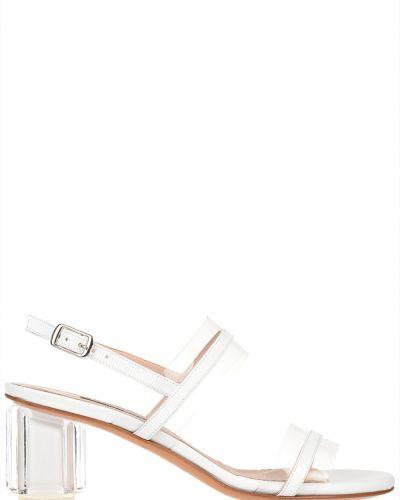 Босоножки на каблуке кожаные Albano