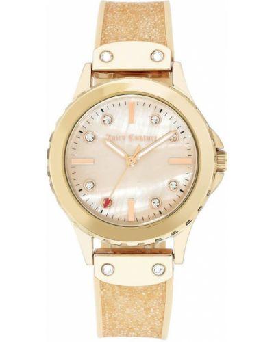 Beżowy złoty zegarek mechaniczny na co dzień Juicy Couture