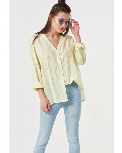 Блузка с длинным рукавом желтый весенний Fly