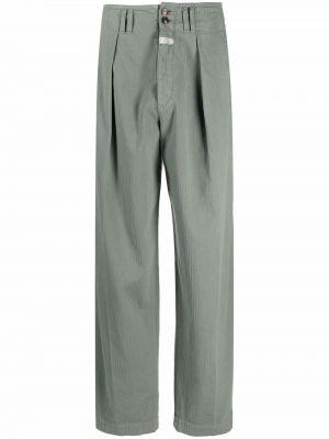 Зеленые брюки с логотипом Etro