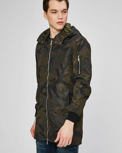 Утепленная куртка с капюшоном милитари Brave Soul