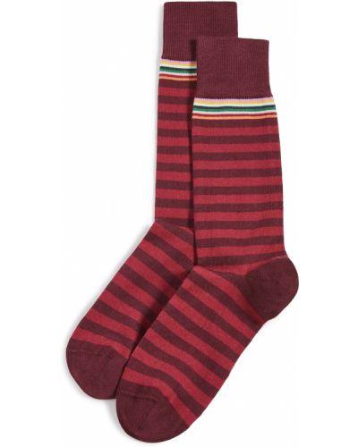 Prążkowane czerwone skarpety bawełniane Paul Smith