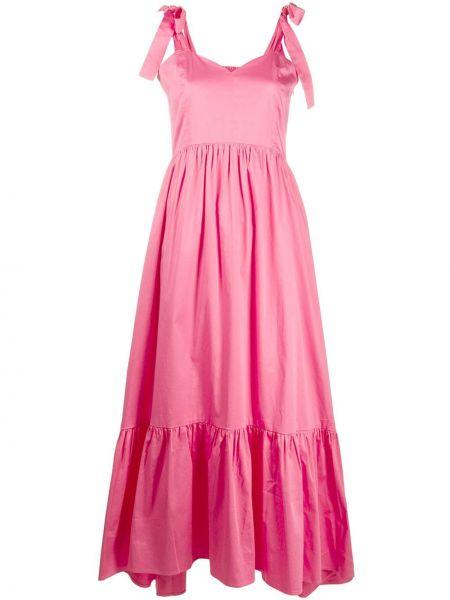 Шелковое платье - розовое Max & Moi
