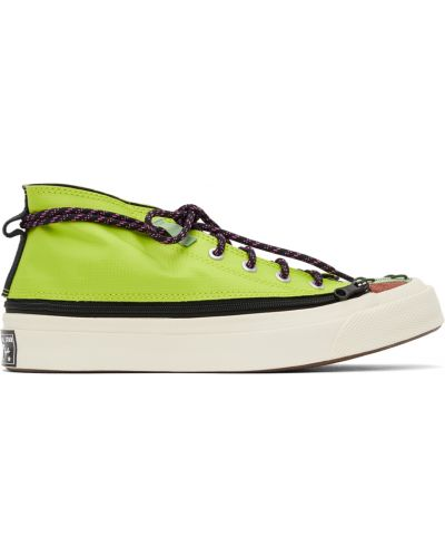 Высокие кроссовки на каблуке - белые Converse