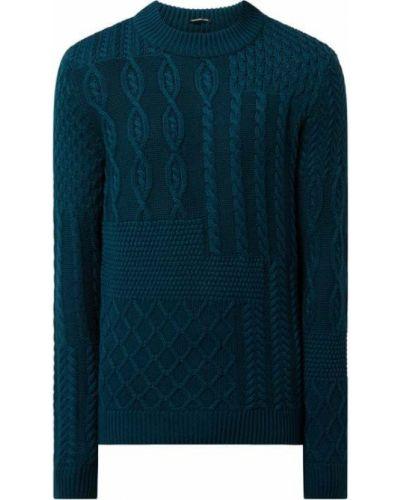 Sweter bawełniany - turkusowy Strellson