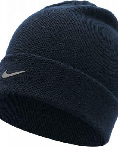 Шапка с отворотом - синяя Nike