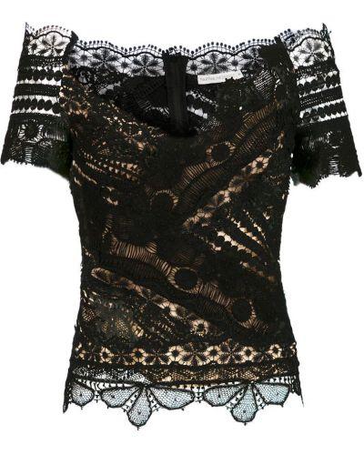Блузка с коротким рукавом кружевная с V-образным вырезом Martha Medeiros