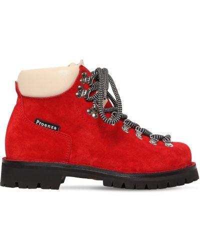 Ботинки на каблуке на шнуровке Proenza Schouler
