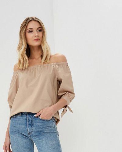 Блузка с открытыми плечами весенний бежевый Lusio